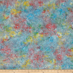 Primo Batiks Must Haves Flower Burst Teal Fabric