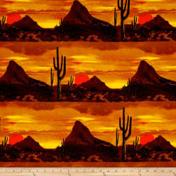 Michael Miller Desert Nights Last Light Sunset Fabric