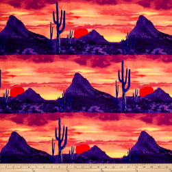 Michael Miller Desert Nights Last Light Twilight Fabric