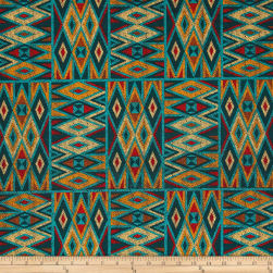 Michael Miller Desert Nights Beaded Patchwork Turquoise Fabric