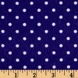 Timeless Treasures Flannel Dot Purple