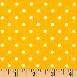 Timeless Treasures Flannel Dot Yellow Fabric