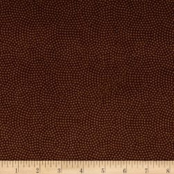 Timeless Treasures Flannel Spin Dot Brown Fabric