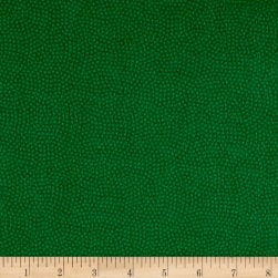 Timeless Treasures Flannel Spin Dot Green Fabric