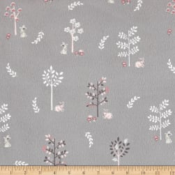 Timeless Treasures Flannel Doe, A Deer Trees Doe, A Deer Grey