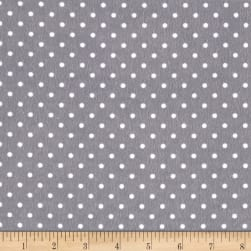 Timeless Treasures Flannel Dot Pewter Fabric