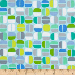 Kanvas Koala Baby Nutty Geo Light Blue/Green Fabric