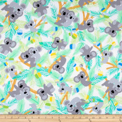 Kanvas Koala Baby Flannel Koalas In Trees White/Jade