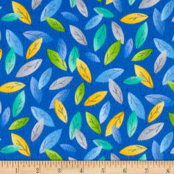 Kanvas Koala Baby Flannel Eucalyptus Leaves Royal Fabric