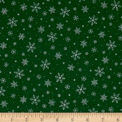 Under The Christmas Tree Snow Flakes Green