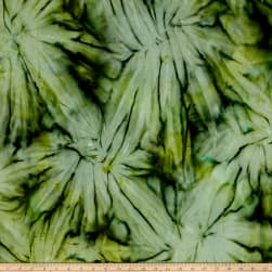Timeless Treasures Tonga Batik Sunburst Tie-Dye Olive