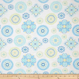 Timeless Treasures Fly Away Floral Medallion Cream Fabric