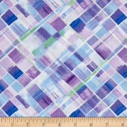 Timeless Treasures Harmony Bias Plaid Lilac Fabric