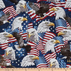 Timeless Treasures American Pride Eagles Eagle Fabric