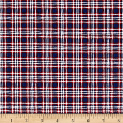 Timeless Treasures American Pride Small Plaid Navy