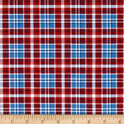 Timeless Treasures American Pride Large Plaid Blue