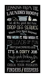 "Timeless Treasures 23"" Laundry Lessons Panel Black"