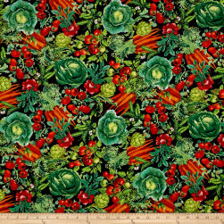 Timeless Treasures Field To Feast Vegetables Veggie Fabric
