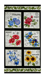 Timeless Treasures Garden Journal Floral Squares 24