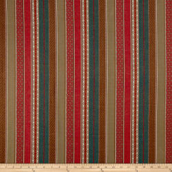 Laura & Kiran Southwest Stripes Gypsy Red/Turq/Khaki Fabric