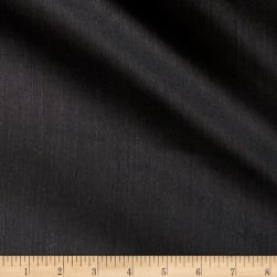 European Linen Cotton Blend Black Fabric