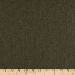European Linen Blend Olive Fabric