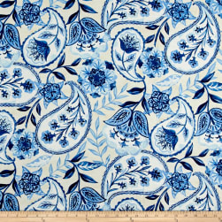 Kelly Ripa Home Happy Hour Bluejay Fabric