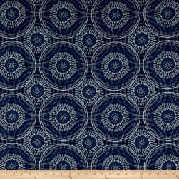 Kelly Ripa Home Spiral Graph Jacquard Bluejay Fabric
