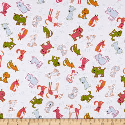 Fabric Merchants Cotton Spandex Jersey Knit Allover Dogs