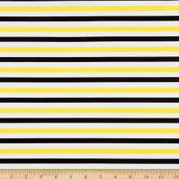 St. Maarten Swimwear Knit Stripes Yellow/Black/White