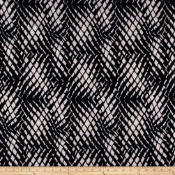 Polyester Crepe Abstract Black/Grey Fabric