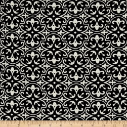 Polyester Crepe Mosaic Black/White Fabric