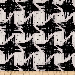 Polyester Crepe Aztec Beige/Black Fabric