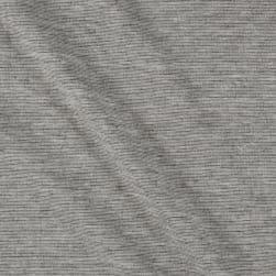 Ponte De Roma Stretch Knit Heather Grey Fabric