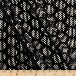 Bulgip Mechanical Stretch Mesh Black Fabric
