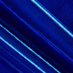 Polyester Spandex Lame Knit Royal Blue Fabric
