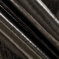 Polyester Spandex Lame Knit Gunmetal Fabric