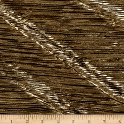 Crinkle Lame Knit Metallic Gold/Black Fabric