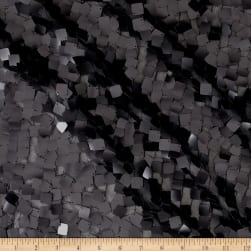 Square Dazzle & Mesh Sequin Black Fabric