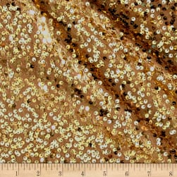 Taffeta Sequins Gold Fabric