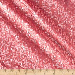 Taffeta Sequins Dusty Rose Fabric
