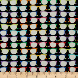 Crepe de Chine Glasses Black/Multi Fabric