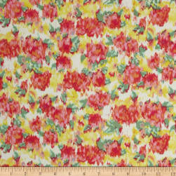 Crepe de Chine Watermelon Papaya/Sunlight Fabric