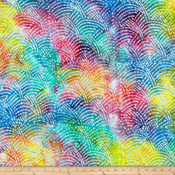 Cotton Jersey Knit Abstract Bright Multi Fabric