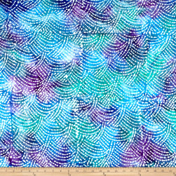Cotton Jersey Knit Abstract Purple/Blue/Teal