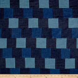 Denim Patchwork Blue Fabric