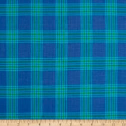 Madras Large Plaid Blue/Green