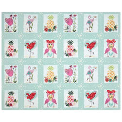 Flamingo Fever Let's Flamingle 36'' Panel Fabric