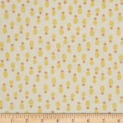 Flamingo Fever Pineapple Turnover Golden Fabric