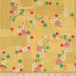 Flamingo Fever Majestical Mustard Fabric